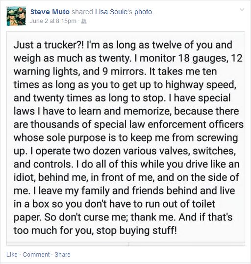Steve Muto Bully Trucker Rant