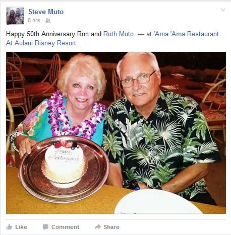 Ron and Ruth Muto - Happy? Anniversary
